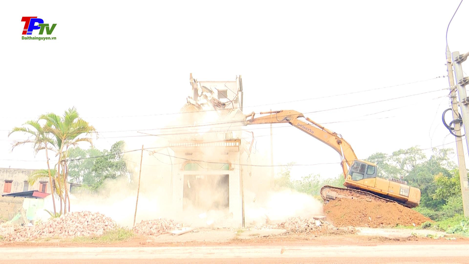 Hoàn thành giải phóng mặt bằng tại khu vực điểm cuối của Dự án đường Bắc Sơn kéo dài.