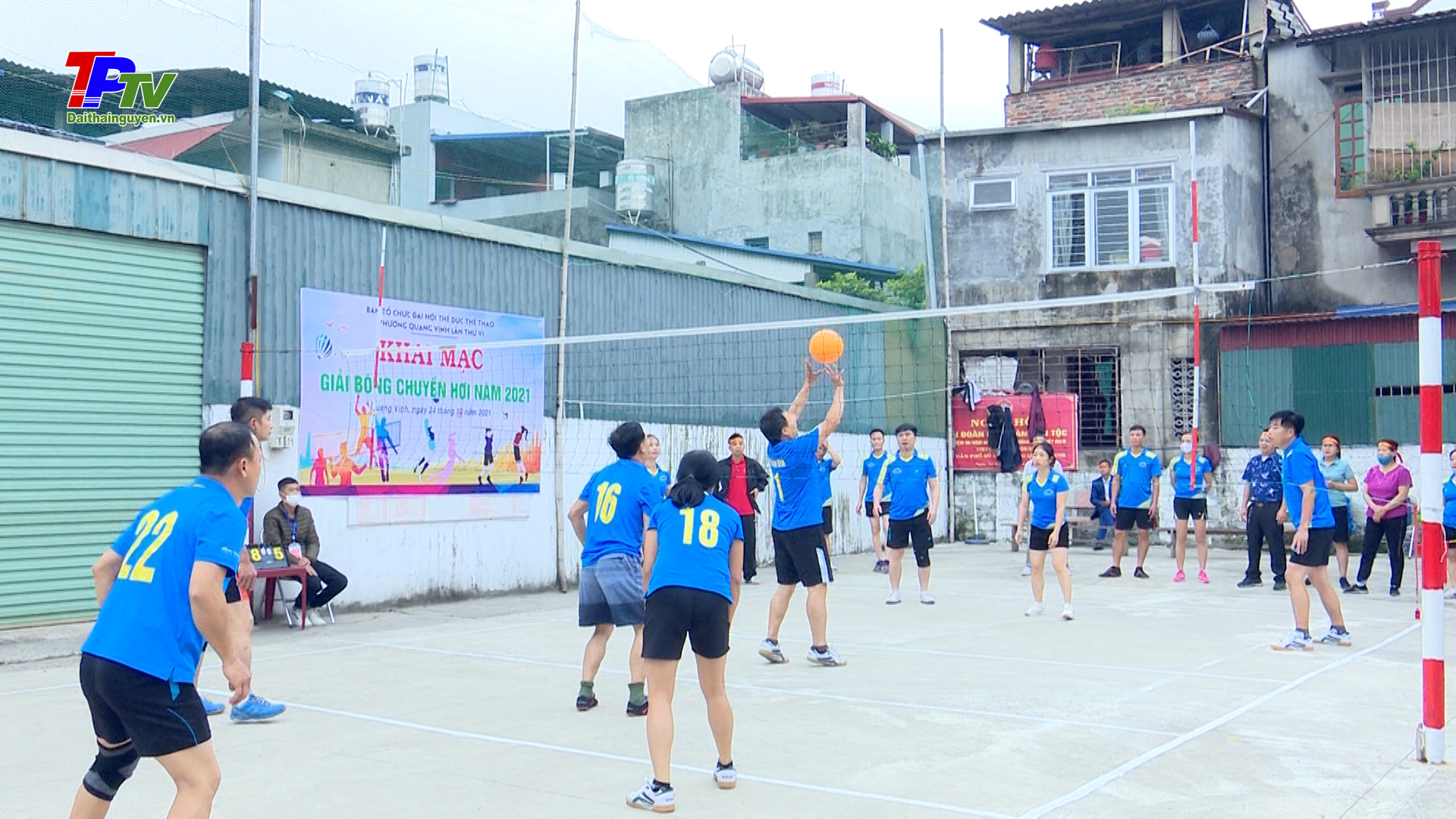Phường Quang Vinh khai mạc giải bóng chuyền hơi, giải cầu lông.