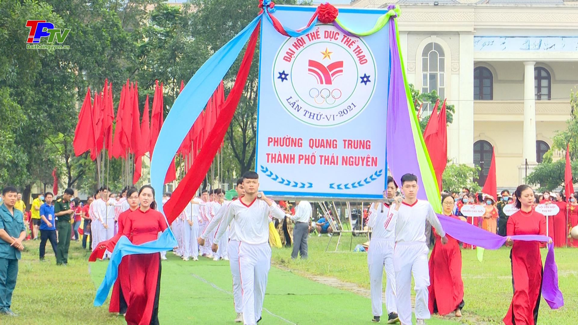 Sôi nổi Đại hội Thể dục Thể thao phường Quang Trung lần thứ VI năm 2021.