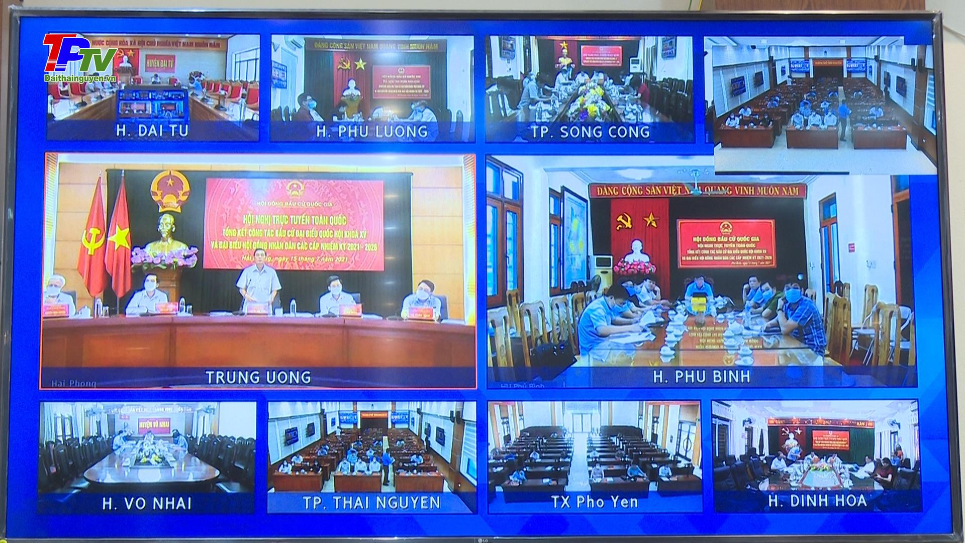 Hội nghị toàn quốc tổng kết công tác bầu cử đại biểu Quốc hội khóa XV và đại biểu HĐND các cấp nhiệm kỳ 2021 - 2026.