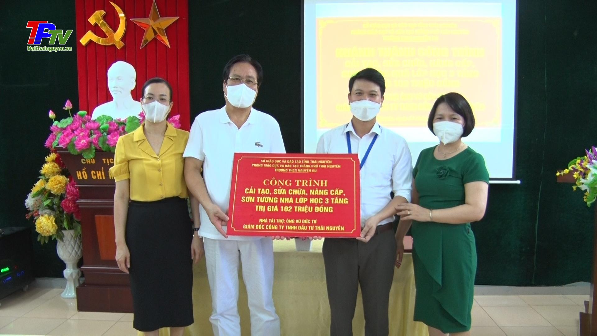 Khánh thành công trình cải tạo, sửa chữa, nâng cấp lớp học tại trường THCS Nguyễn Du