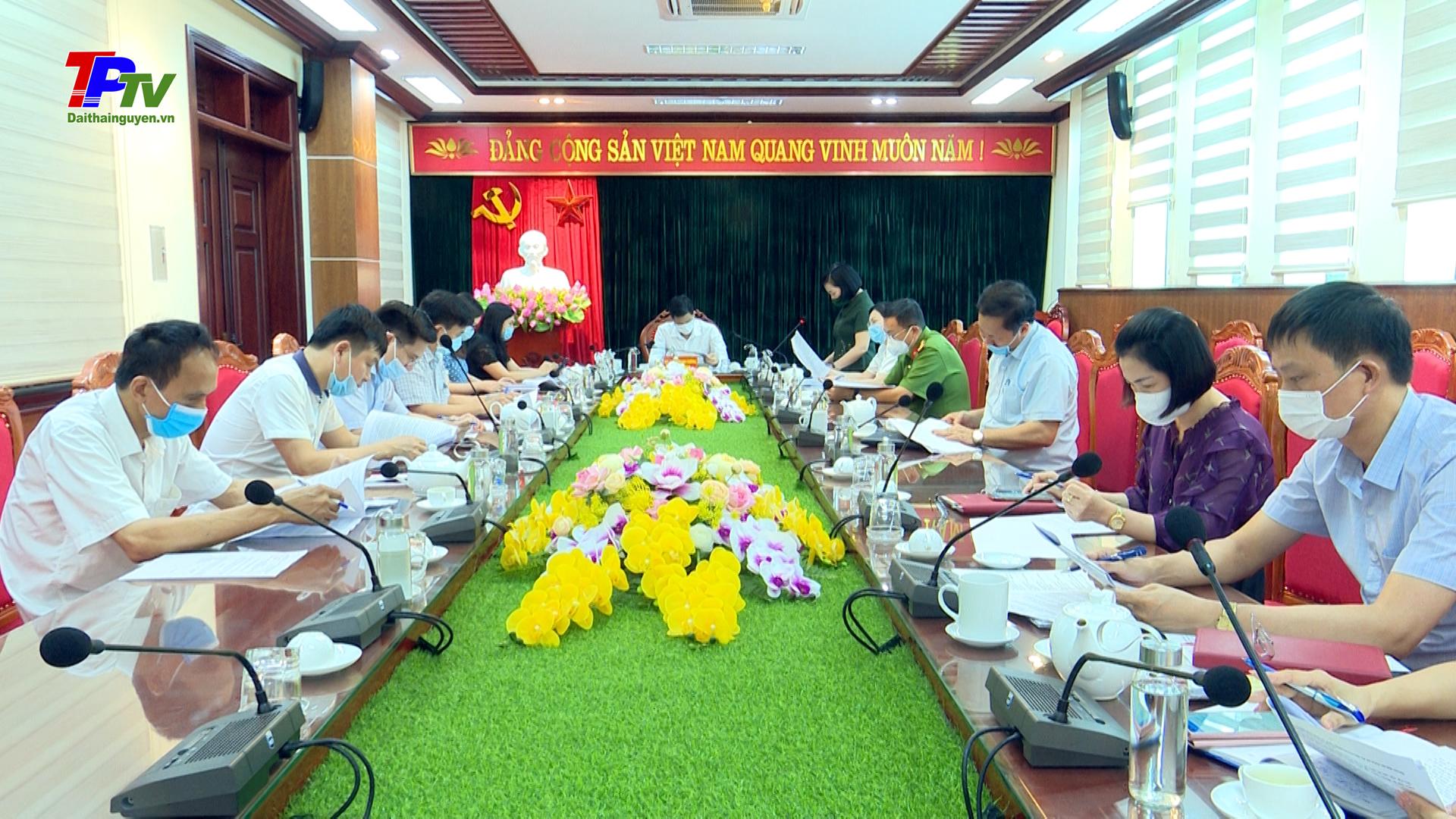 Ủy ban bầu cử TP Thái Nguyên: thông qua dự thảo báo cáo tổng kết cuộc bầu cử đại biểu Quốc hội khóa XV và bầu cử đại biểu HĐND các cấp nhiệm kỳ 2021 - 2026 trên địa bàn.