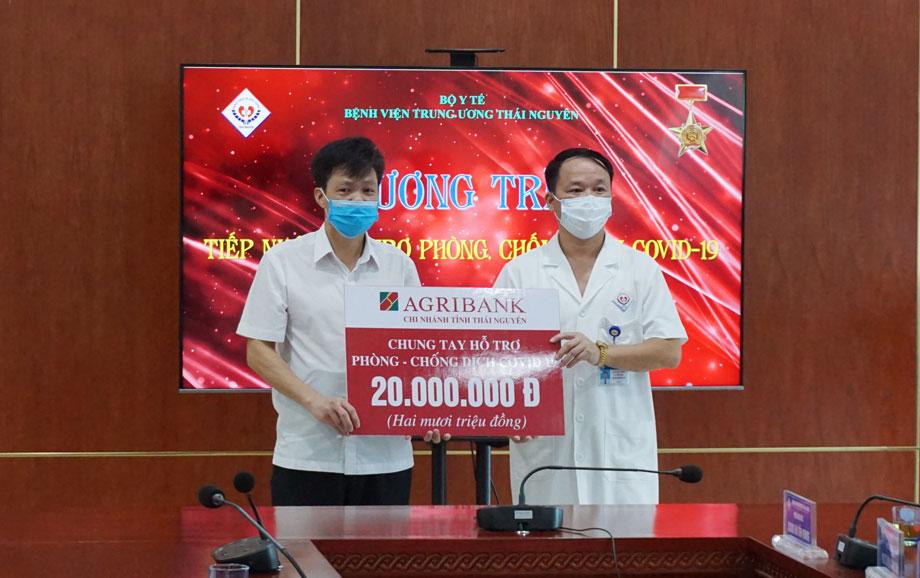 Bệnh viện Trung ương Thái Nguyên: Tiếp nhận hỗ trợ 60 triệu đồng phòng, chống dịch COVID-19